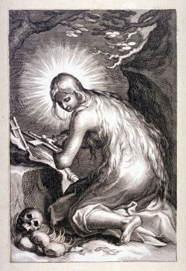 St. Mary of Egypt (from a series of 25 engravings of the Hermits)