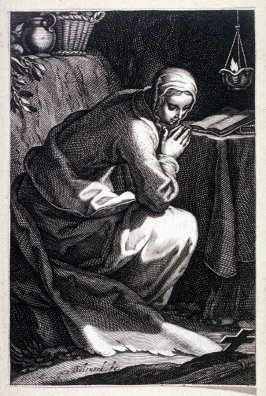 St. Fabiola (from a series of 25 engravings of the Hermits)