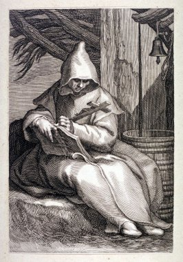 St. Theonas (St. Macarius of Egypt) (from a series of 25 engravings of the Hermits)