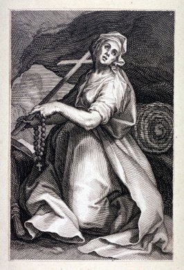St. Sylvia (from a series of 25 engravings of the Hermits)