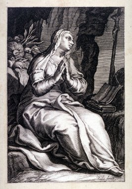 St. Marcella (plate 14 from a series of 25 engravings of the Hermits)