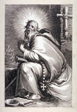 St. Ammon of Nitria (St. Abraham) (plate 21 from a series of 25 engravings of the Hermits)