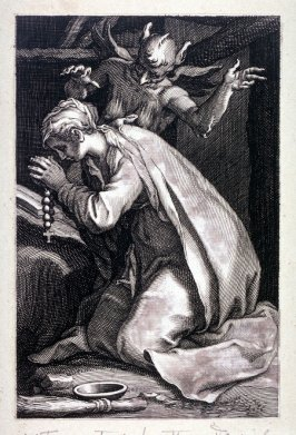 St. Euphrasia. (Plate 4 from a series of 25 engravings of the Hermits)