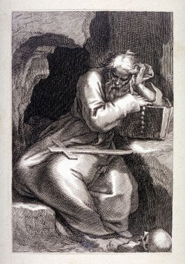 St. Arsenius (The Great, of Skete). Plate 23 of the first series of Hermits: Sacred  Hermitage of Anchorets