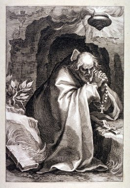 St. Macarius of Egypt (St. Janus) (One from) A series of 25 engravings of the Hermits