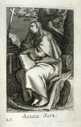 St. Sara. Sancta Sara, plate 25 in the second series in the book, Sylva Anachoretica Aegypti et Palaestinae (Antwerp: Hendrik Aerts,1619) [containing two series, Sacra Eremus Ascetarum and Sacra Eremus Ascetriarum8