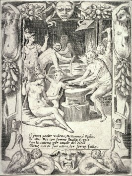 Vulcan, Neptune, Athena and Other Gods Making Shackles to Pull Jupiter from the Heavens, from the series The Loves, Rages, and Jealousies of Juno
