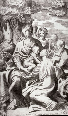 Virgin and Child Attended by Saints