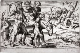 Bacchanalian Procession with Silenus Riding on an Ass