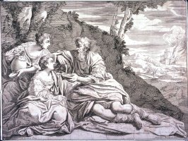 Lot and His Daughters, after Annibale Caracci