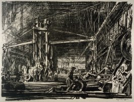 A Work Shop, from the series 'Building Ships'