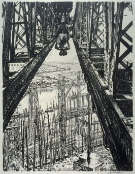 A Ship-yard seen from a big Crane, from the series 'Building Ships'