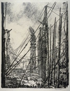 A Ship-Yard, from the series 'Building Ships'