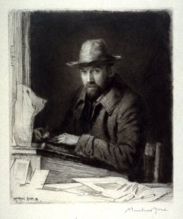Portrait of the artist in a hat