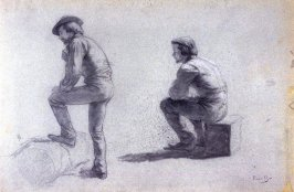 Study of Two Male Figures