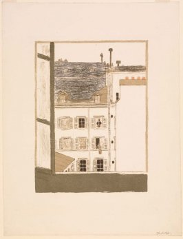 Maison dans la cour (House in the Courtyard), from the album Quelques aspects de la vie de Paris (Some Scenes of Parisian Life)