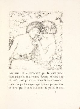 Untitled, pg. 19, in the book Daphnis et Chloé by Longus (translated by Jacques Amyot) (Paris: Ambroise Vollard, 1902).