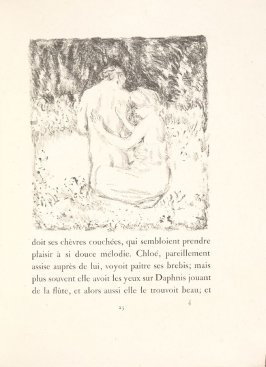 Untitled, pg. 25, in the book Daphnis et Chloé by Longus (translated by Jacques Amyot) (Paris: Ambroise Vollard, 1902).