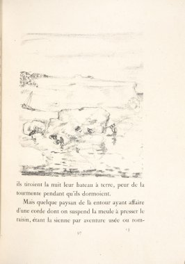 Untitled, pg. 97, in the book Daphnis et Chloé by Longus (translated by Jacques Amyot) (Paris: Ambroise Vollard, 1902).