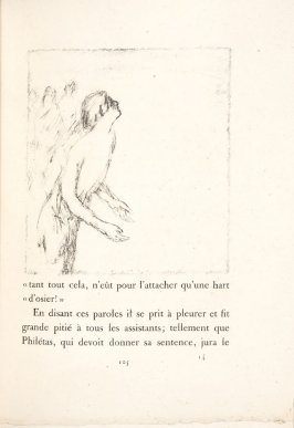Untitled, pg. 105, in the book Daphnis et Chloé by Longus (translated by Jacques Amyot) (Paris: Ambroise Voll ard, 1902).