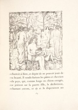 Untitled, pg. 189, in the book Daphnis et Chloé by Longus (translated by Jacques Amyot) (Paris: Ambroise Vollard, 1902).