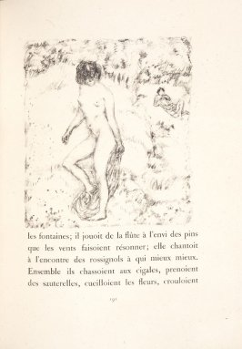 Untitled, pg. 191, in the book Daphnis et Chloé by Longus (translated by Jacques Amyot) (Paris: Ambroise Vollard, 1902).