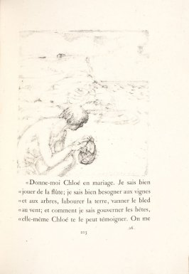 Untitled, pg. 203, in the book Daphnis et Chloé by Longus (translated by Jacques Amyot) (Paris: Ambroise Vollard, 1902).