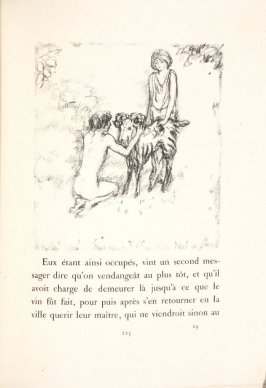 Untitled, pg. 225, in the book Daphnis et Chloé by Longus (translated by Jacques Amyot) (Paris: Ambroise Vollard, 1902).