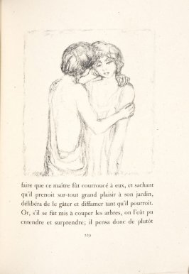 Untitled, pg. 229, in the book Daphnis et Chloé by Longus (translated by Jacques Amyot) (Paris: Ambroise Vollard, 1902).