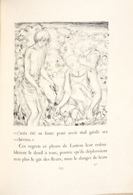 Untitled, pg. 233, in the book Daphnis et Chloé by Longus (translated by Jacques Amyot) (Paris: Ambroise Vollard, 1902).