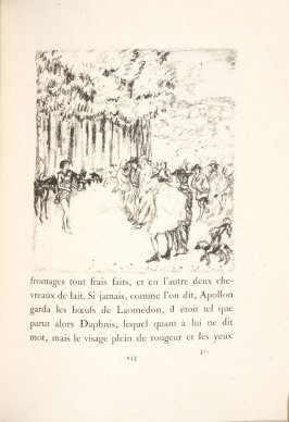 Untitled, pg. 243, in the book Daphnis et Chloé by Longus (translated by Jacques Amyot) (Paris: Ambroise Vollard, 1902).