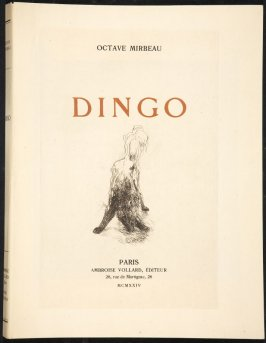Dingo by Octave Mirbeau (Paris: Ambroise Vollard, 1924)