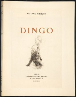 Cover, in the book Dingo by Octave Mirbeau (Paris: Ambroise Vollard, 1924)