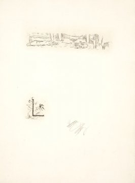 Untitled, working proof of pg. 137 (proof 3 of 4), in the book Dingo by Octave Mirbeau (Paris: Ambroise Vollard, 1924)