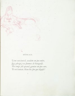 """Dédicace"", pg. 1 , in the book Parallèlement by Paul Verlaine (Paris: Ambroise Vollard, 1900)."