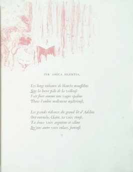 """Per amica silentia"", pg. 13 , in the book Parallèlement by Paul Verlaine (Paris: Ambroise Vollard, 1900)."