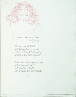"""A la princesse Roukine"", pg. 23 , in the book Parallèlement by Paul Verlaine (Paris: Ambroise Vollard, 1900)."