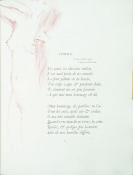 """Auburn"", pg. 35 , in the book Parallèlement by Paul Verlaine (Paris: Ambroise Vollard, 1900)."