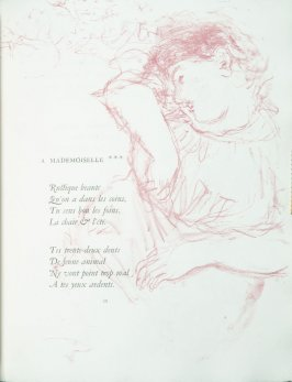 """A Mademoiselle"", pg. 39 , in the book Parallèlement by Paul Verlaine (Paris: Ambroise Vollard, 1900)."