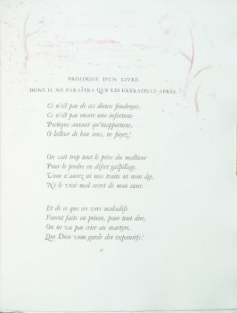 """Prologue d'un livre dont il ne paraîtra que les extraits ci-après."", pg. 47 , in the book Parallèlement by Paul Verlaine (Paris: Ambroise Vollard, 1900)."