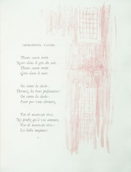 """Impression Fausse"", pg. 51 , in the book Parallèlement by Paul Verlaine (Paris: Ambroise Vollard, 1900)."