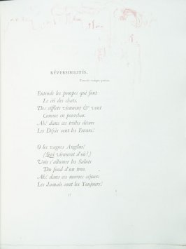 """Réversibilités"", pg. 57 , in the book Parallèlement by Paul Verlaine (Paris: Ambroise Vollard, 1900)."