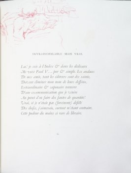 """Invraisemblable mais vrai"", pg. 61 , in the book Parallèlement by Paul Verlaine (Paris: Ambroise Vollard, 1900)."