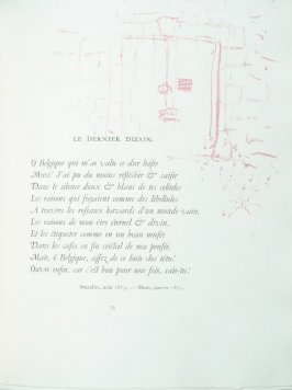 """Le dernier dizain"", pg. 63 , in the book Parallèlement by Paul Verlaine (Paris: Ambroise Vollard, 1900)."