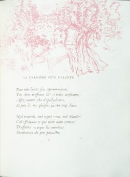 """La derneière Fête galante"", pg. 81 , in the book Parallèlement by Paul Verlaine (Paris: Ambroise Vollard, 1900)."