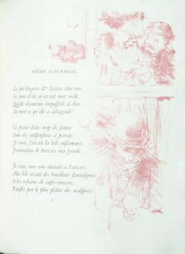 """Poème saturnien"", pg. 83 , in the book Parallèlement by Paul Verlaine (Paris: Ambroise Vollard, 1900)."