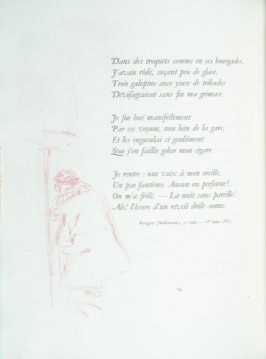 Untitled, pg. 84 , in the book Parallèlement by Paul Verlaine (Paris: Ambroise Vollard, 1900).