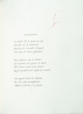 """L'impudent"", pg. 85 , in the book Parallèlement by Paul Verlaine (Paris: Ambroise Vollard, 1900)."