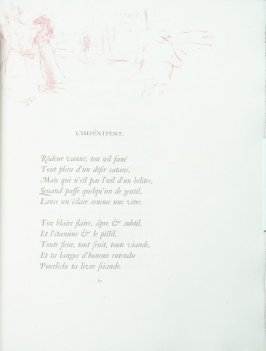 """L'impénitent"", pg. 87 , in the book Parallèlement by Paul Verlaine (Paris: Ambroise Vollard, 1900)."