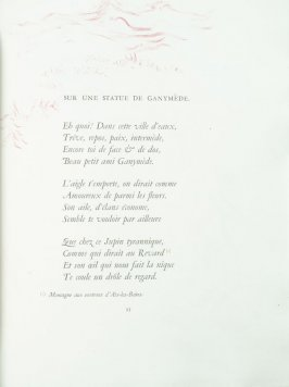 """Sur une statue de Ganymède"", pg. 93 , in the book Parallèlement by Paul Verlaine (Paris: Ambroise Vollard, 1900)."